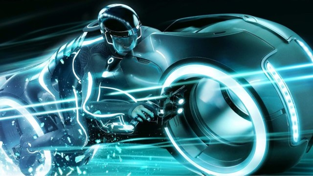 Tron Lightcycle Run Vehicles spotted on the way to the Magic Kingdom 1