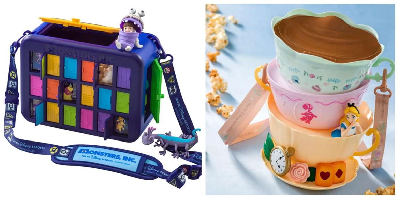 New Monsters Inc & Alice in Wonderland Popcorn Bucket coming to Tokyo Disneyland