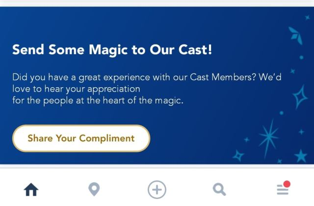 Disney Adds Cast Member Compliment Feature to My Disney Experience App 1