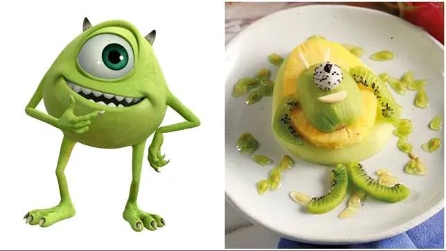 Fun Mike Wazowski Fruit Snack To Have This Halloween Season!