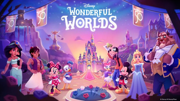 Disney Parks-Inspired Mobile Puzzle Game, Disney Wonderful Worlds, Available Now!