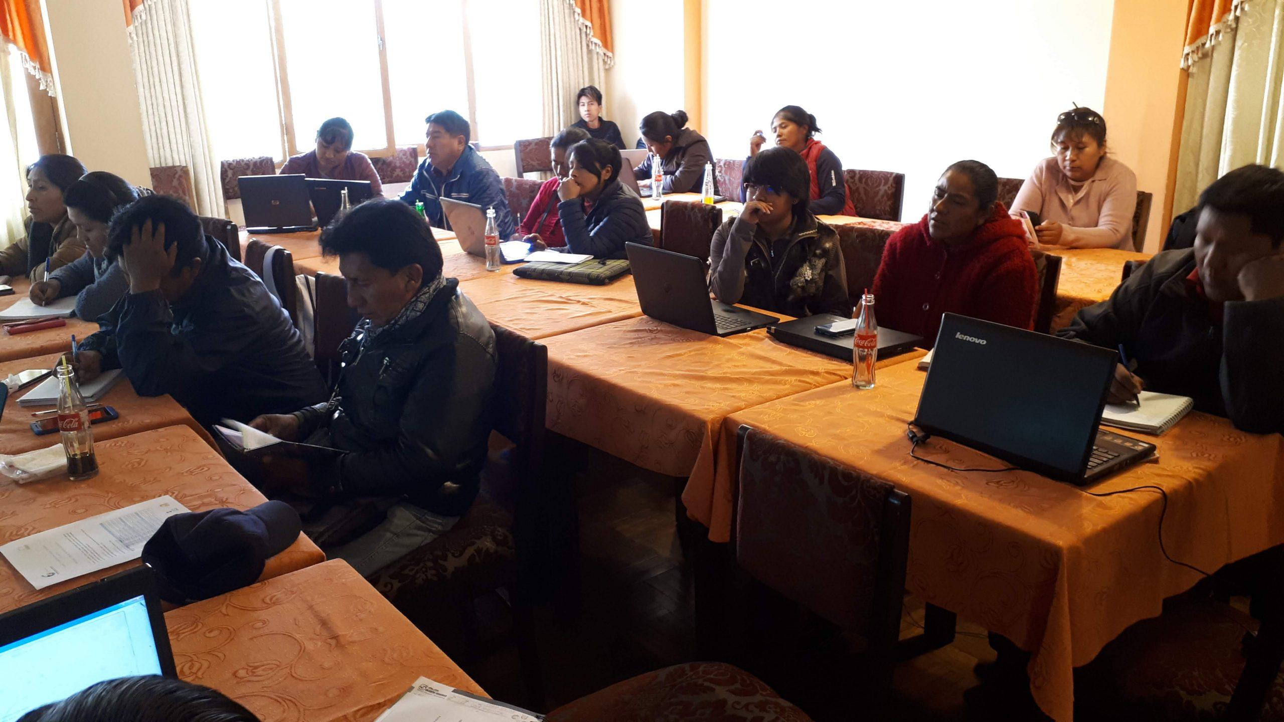 WikiChipaya, Taller de Presentación y Capacitación