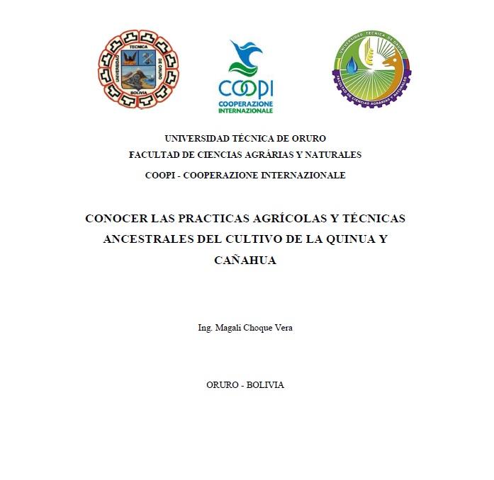 Conocer las prácticas Agrícolas y Técnicas Ancestrales del Cultivo de la Quinua y Cañahua
