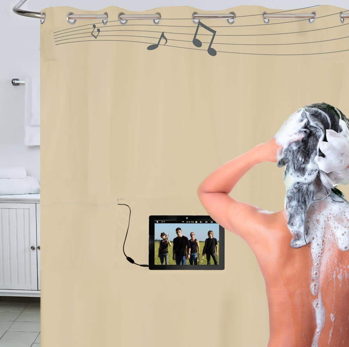 25 hilarious geeky shower curtains to