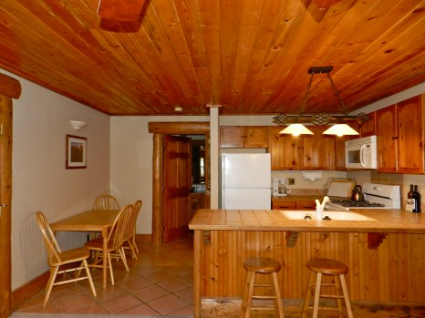 203 Studio A forest fell kitchen and dining area