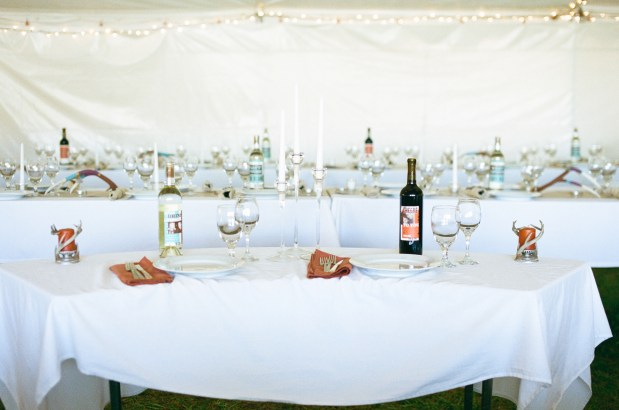 Wines and glasses wedding in Colorado Hotel