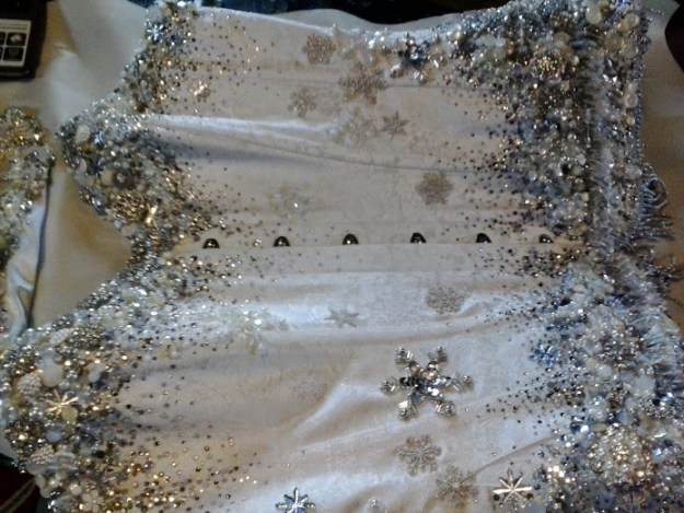 Snow Queen corset - Bead Embroidery by Suzanne Forbes