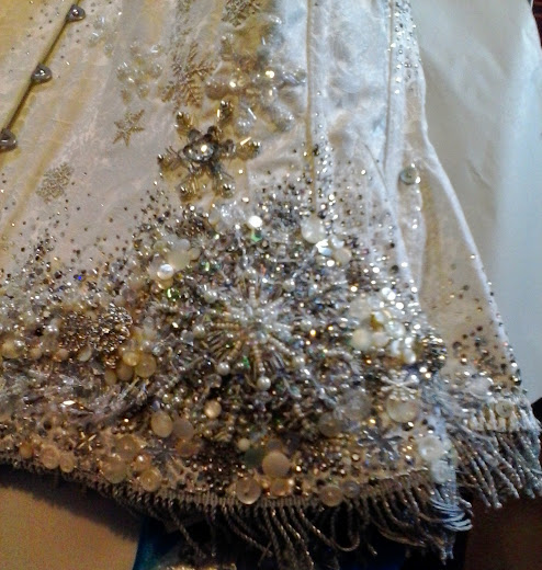 Snow Queen corset detail - Bead Embroidery by Suzanne Forbes