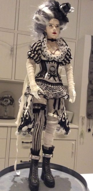 Suzanne Forbes Sideshow Bride of Frankenstein custom doll corset