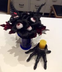 Eyeball bouquet by Suzanne Forbes Halloween DIY