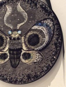 Grey Embroidered Moth by Suzanne Forbes January 2017