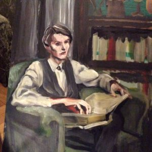 Bryce in library by Suzanne Forbes Feb 12 2017 WIP.