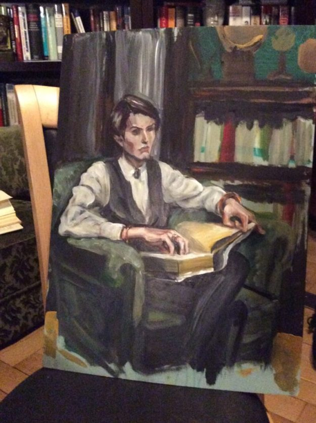 ryce in library by Suzanne Forbes eb 12 2017 WIP. 2 - Edited