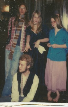 With GIlly and other cherished friends, Abington Square Fall 1981