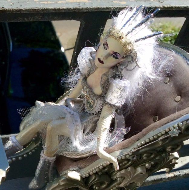 Snow Queen OOAK Doll by Suzanne Forbes