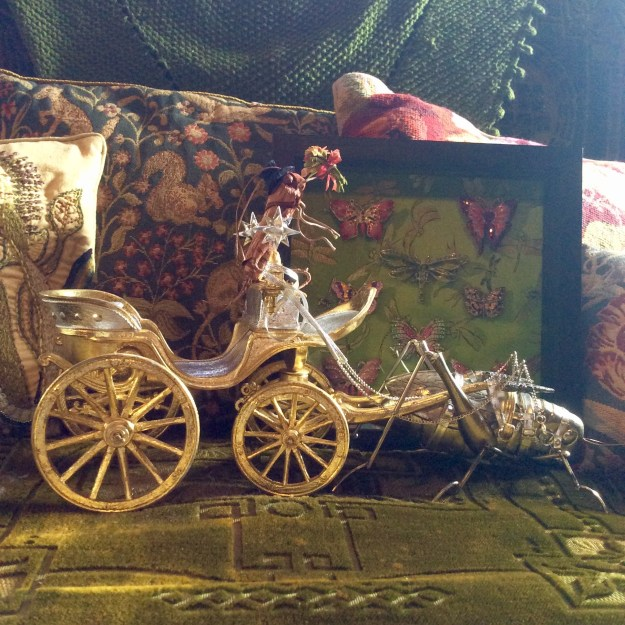 grasshopper bricolage carriage and shadow box by Suzanne Forbes May 2017
