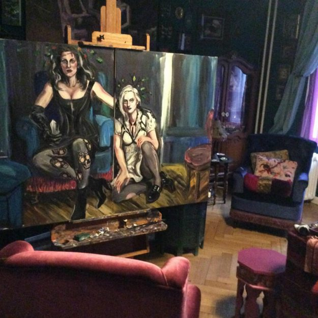 After the third sitting Sadie and Jo WIP by Suzanne Forbes Oct 2017