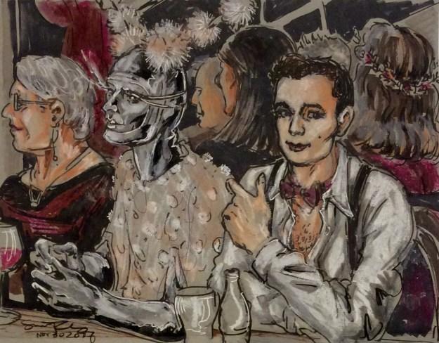 Silver Man at Vaudeville Variete Revue by Suzanne Forbes Nov 30 2017