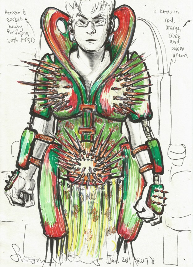 Armored corset body for flying with PTSD by Suzanne Forbes Jan 20 2018
