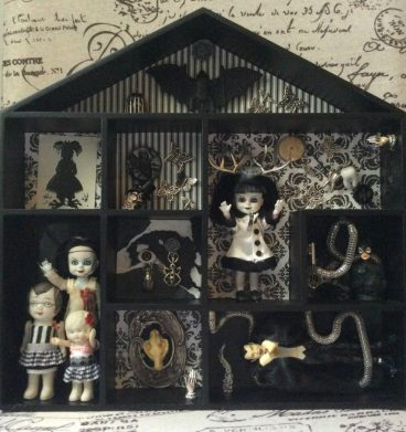 Creepy doll shadowbox Suzanne Forbes Feb 2018