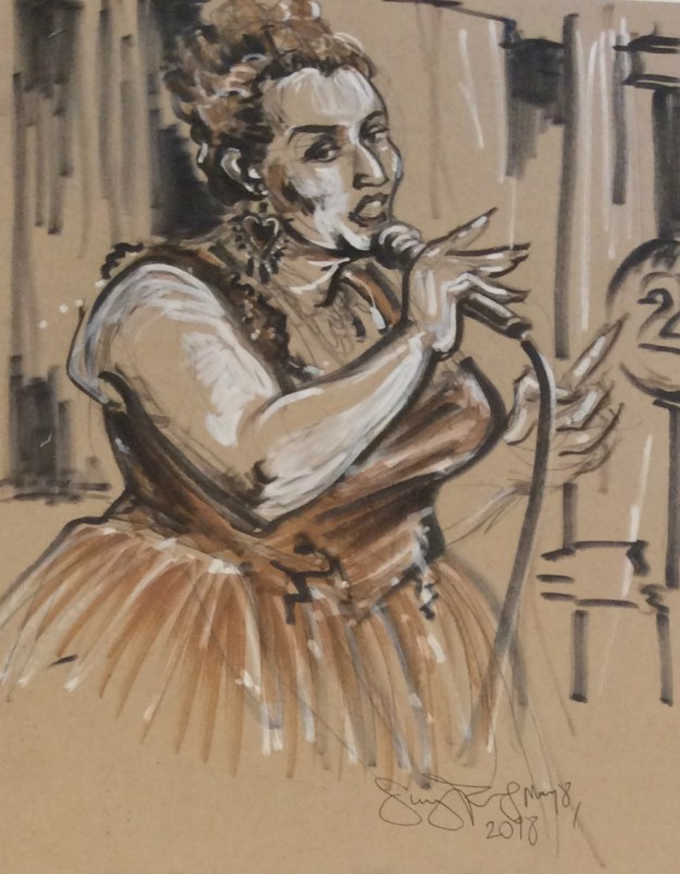 Rachel Von Hindman at Sketchys Berlin by Suzanne Forbes May 8 2018