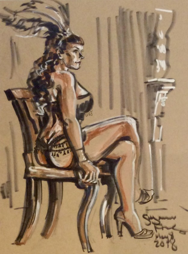 Trixie Tassels at Dr Sketchys Berlin by Suzanne Forbes May 8 2018
