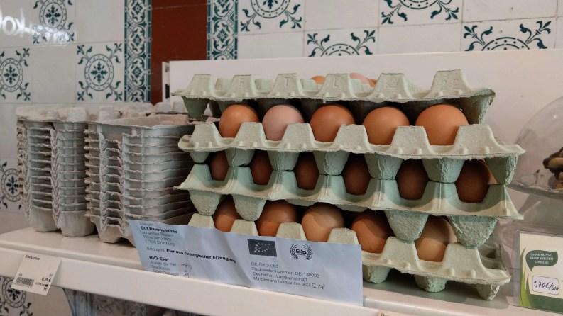 裸裝的有機(Bio)雞蛋