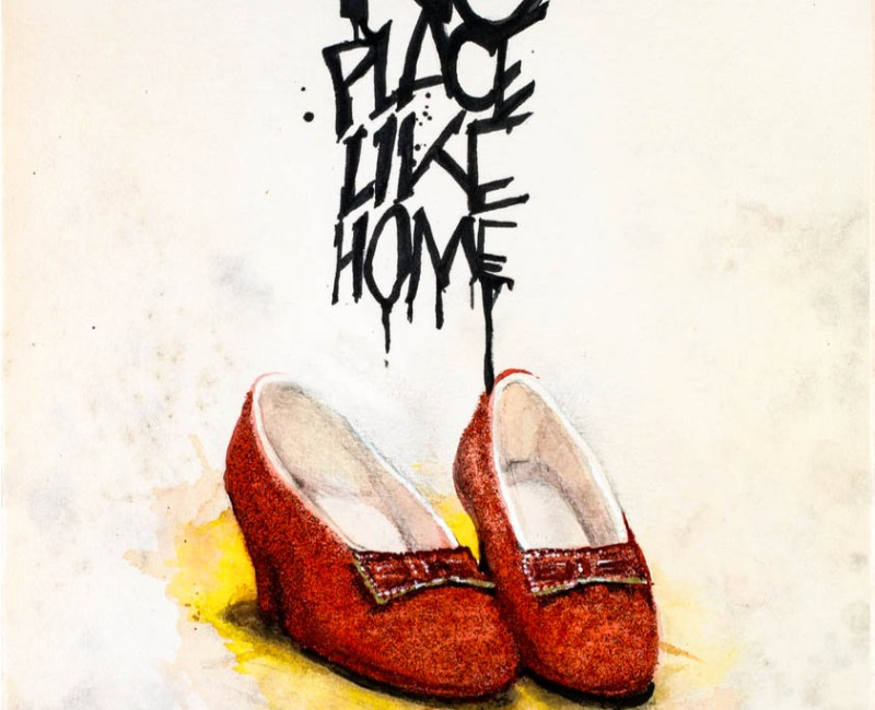 """""""No place like home"""" imp. digital"""