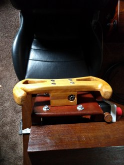 Wooden gt3 steering wheel for OSW bruteforce direct drive