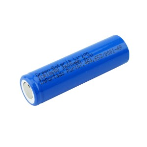 Bateria 3.7V 2600mah Industrial – GREEN CR18650 (6,4X1,8)