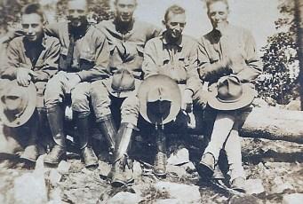 William Boles, second from left