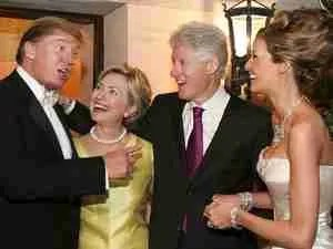 Trump Clinton at Wedding
