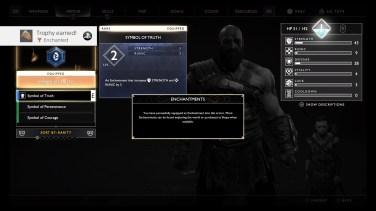 Upgrade Armor/Ability menu cont.