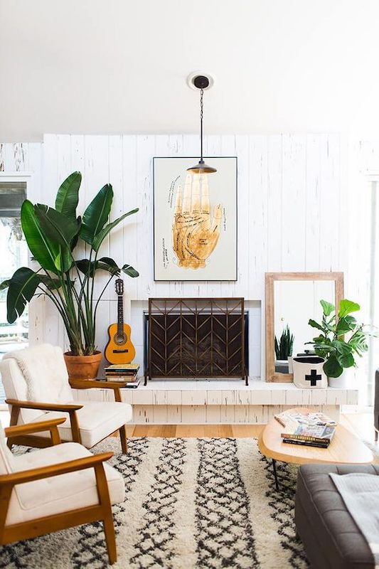 30 Mid Century Modern Inspired Room Design Greenery 3 brighten up a rented apartment