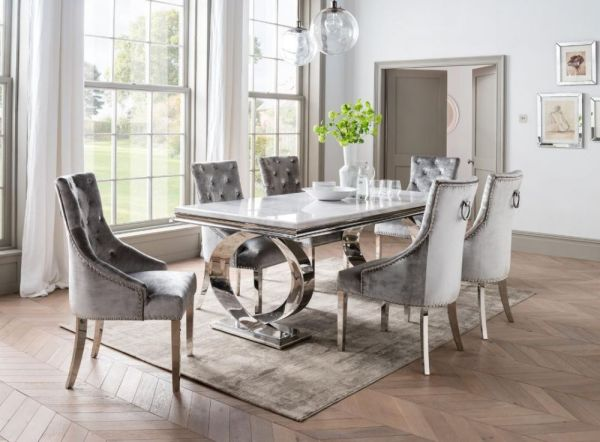 selene bone white marble 200cms dining set the Perfect Dining Chairs