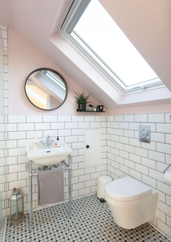 make a small bathroom look bigger
