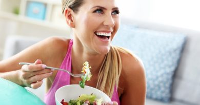 Fit woman eating healthy salad after workout 1024x683 1 Create a Daily Routine