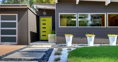 modern grey house garden landscape Curb Appeal Investments