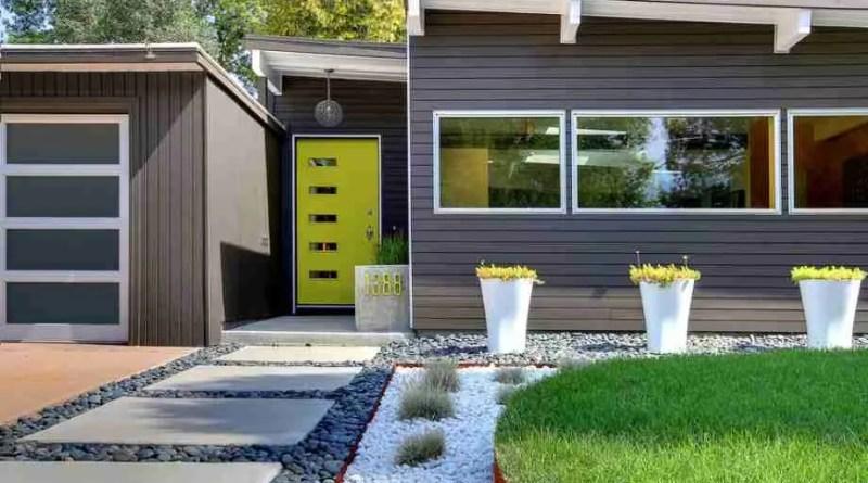 modern grey house garden landscape Landscape of Your Dreams