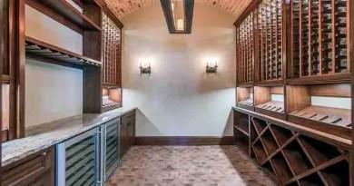 basement rustic wine cellar brick barrel ceiling built in wine shelves Concrete Floor Finishes