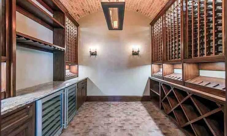 basement rustic wine cellar brick barrel ceiling built in wine shelves Build a Wine Cellar