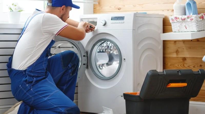 Blue Brushstroke Moms Influencer Asymmetry Facebook Post Set 12 Appliance Maintenance