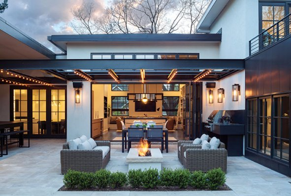 central courtyard this is us denver home by architect carlos alvarez colorado homes and lifestyles magazine photo by emily minton redfield Turn Your Backyard
