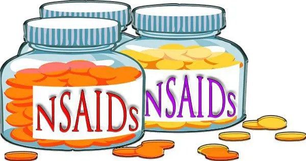 blog picture of pill bottles with the words nsaids