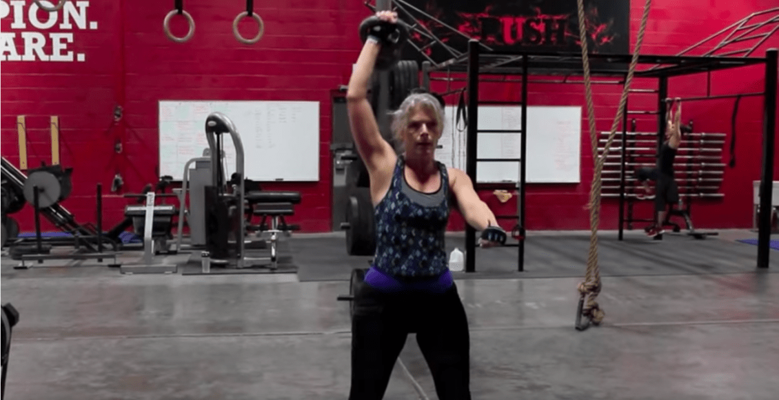 Push as Rx client kettlebell training