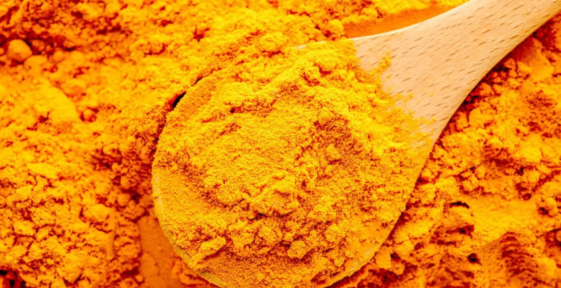 turmeric and a spoon