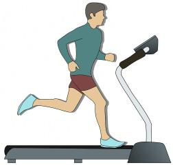 piriformis syndrome illustration of man running on treadmill