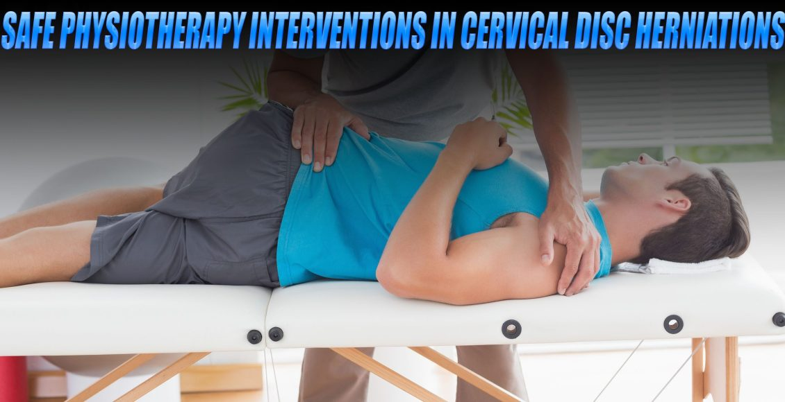 Image of a physiotherapist treating a patient with cervical disc herniations.