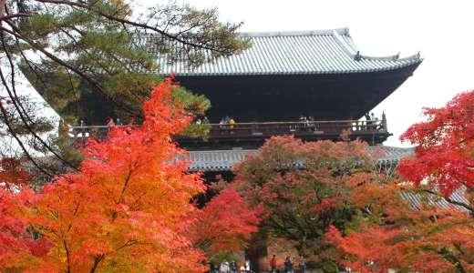 【京都観光~紅葉~】南禅寺の水道橋は秋の紅葉と見るのがキレイでおすすめ。