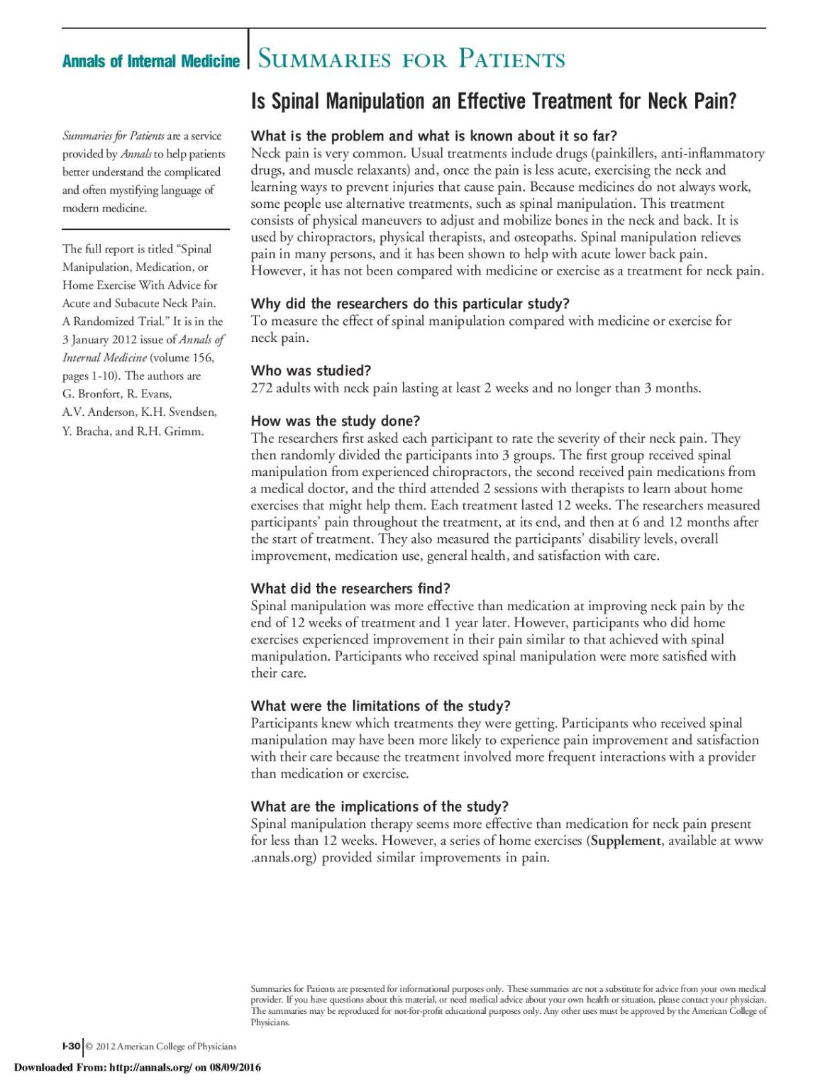 Is Spinal Manipulation an Effective Treatment for Neck Pain_-page-001